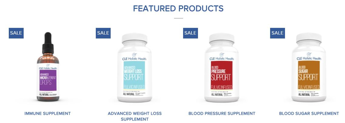 cle holistic health products