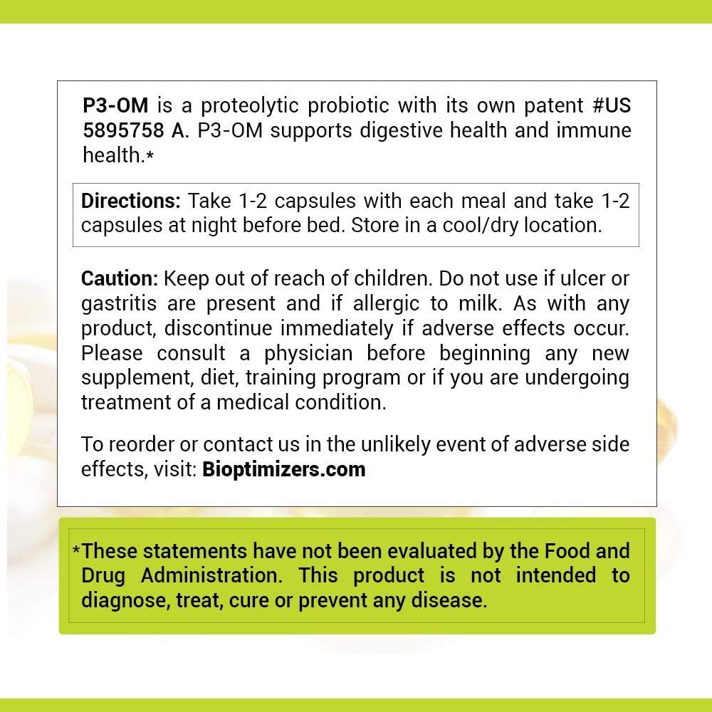 P3-OM Probiotic Dosage use