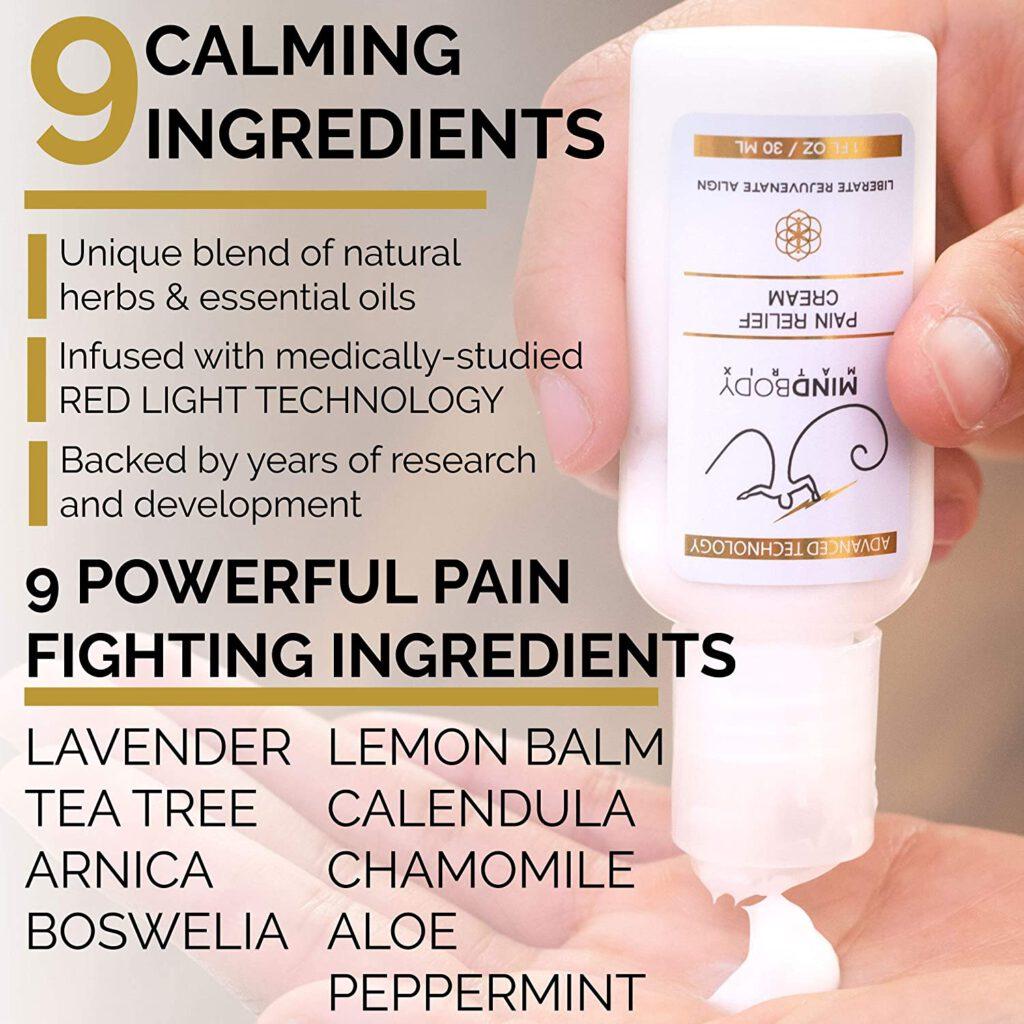 MindBody Matrix Pain Relief Cream Ingredients