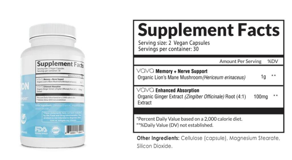 vava connection supplement facts