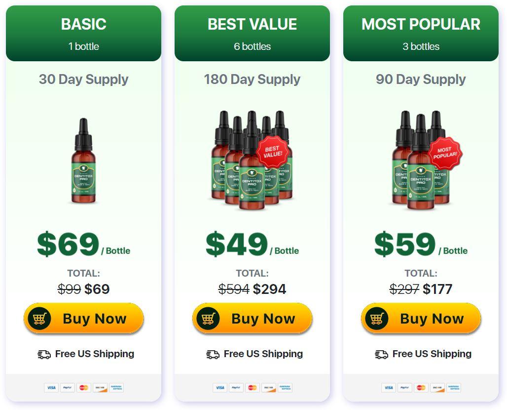 Dentitox Pro Drops Prices
