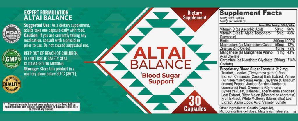 altai balance ingredients